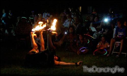 fire knife dancer tricks