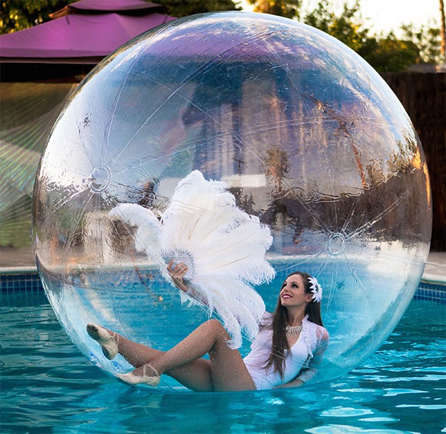 water-sphere performer